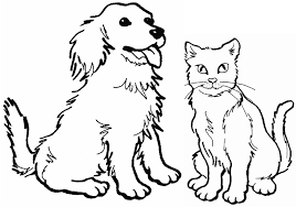 awesome dog cat coloring pages colori 5577 unknown