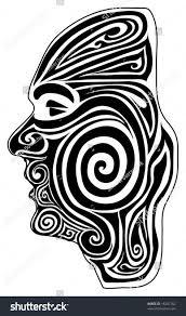vector maori moko tattoo stock vector 18247762 shutterstock
