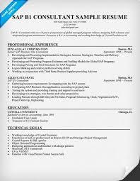 Edi Consultant Resume Sap Bw Sample Resume Sap Bi Fresher Resume 100 Sap Bo Resume