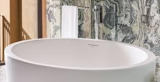 Stone Freestanding Bathtubs Rhondamay Luxury Freestanding Round Natural Stone Bathtub