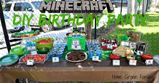 minecraft birthday party diy minecraft birthday party with birthday express home grown families