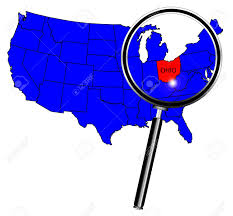 america map ohio ohio state outline insetinto a map of the united states of america