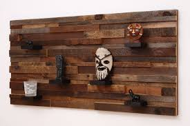 wall made of wood handmade wood wall with wood shelves 48 by carpentercraig
