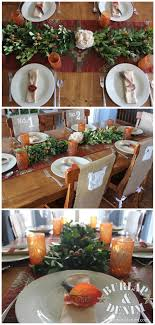 rustic thanksgiving table setting and diy euonymus centerpiece