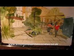 how to paint watercolour garden kensington www