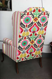 Antique Queen Anne Wing Back Chairs 8 Best Wingback Chair Fabric Inspiration Images On Pinterest