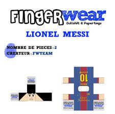 marionettes pour doigt de fingerwear messi paper ribbon and