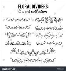 line ornaments flourishes dividers set stock vector 617975666