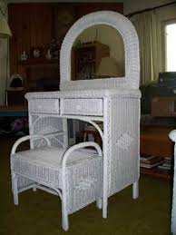 Wicker Furniture Bedroom Sets by Creative Of Wicker Vanity Set White Wicker Vanity And Stool White