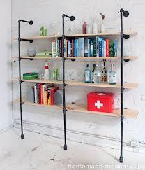 Modern Furniture Shelves by Homemade Modern Ep47 Pipe Shelves