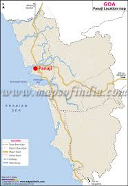India Maps by Panaji Location Map Where Is Panaji