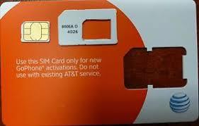 ready prepaid card at t nano cut sim card 3g 4g sku 6006a go phone ready to activate