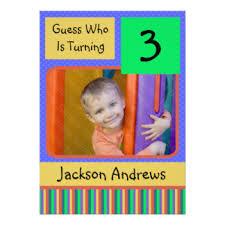3 year old birthday boy invitations u0026 announcements zazzle