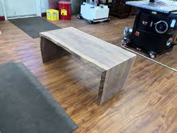 Waterfall Coffee Table Sold Natural Edge Curly Walnut Slab Waterfall Coffee Table By