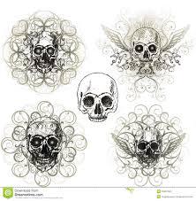 grunge skull ornament stock photography image 15551282