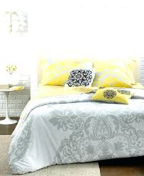 Pottery Barn Comforters Nicole Miller Bedding 3 Piece Full Queen Duvet Cover Gray Yellow
