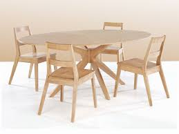 White Oak Dining Room Set - malmo 190cm white oak round dining table and 4 chairs set