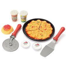jeux cuisine de pizza 14 pcs ensemble des tranches de pizza simulation jouet enfants dîner