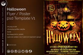 halloween flyer template 15 halloween flyer template v10