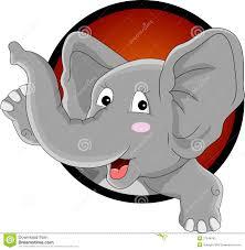 funny elephant head cartoon stock photography image 27048742