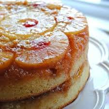a twist on the classic pineapple upside down cake with blueberries