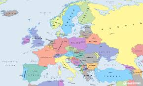 Europe Political Map Quiz by Political Europe Map With Countries And Capitals In Map Of Eueope