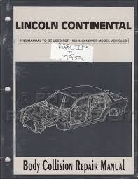 1990 lincoln continental repair shop manual original