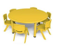 table ronde et chaises table ronde 8 chaises jaunes artprog