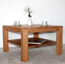 Wohnzimmertisch Holz Quadratisch Eiche Couchtisch Stauraum Design