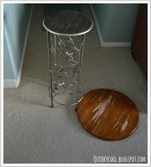 a lazy susan painted and upcycled into a side table hometalk