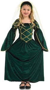 fun shack child tudor princess costume age 4 6 yrs s