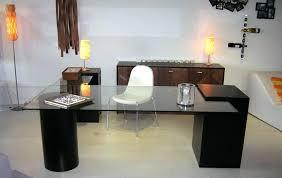 Glass Desk Modern Glass Office Desk Glass Corner Office Desks Home Istanbulmatbaa Info