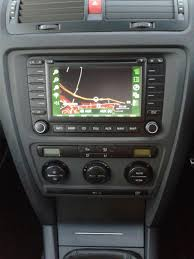 double din sat nav facia surround vrs skoda octavia mk ii 2004