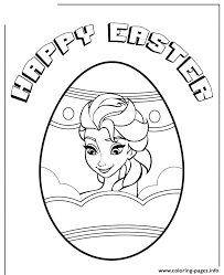 elsa easter egg colouring coloring pages printable