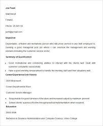 Resume Customer Service Skills Free Sample Customer Service Resume Resume Template And