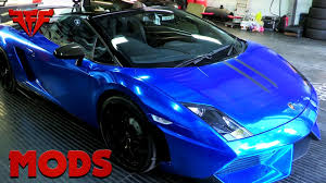 cool wrapped cars lambo blue chrome wrap sweet wrap youtube