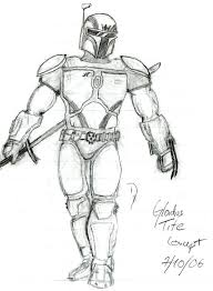mandalorian swordmaster sketch by corranfett on deviantart