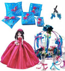 quinceanera packages hello quinceanera package toasting set doll pillows guest