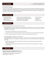 investment banking resume template banker resume