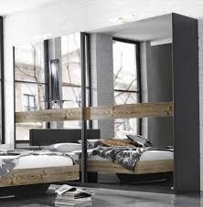 Schlafzimmerschrank Grau Kleiderschrank Spiegel Modern Daredevz Com