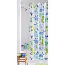 Walmart Mainstays Curtains Mainstays Neptune Peva Vinyl Shower Curtain Walmart Com
