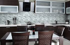 backsplash installer black shiny cabinets countertops options