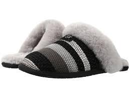 ugg scuffette slippers on sale ugg scuffette ii woven metallic suede in black lyst