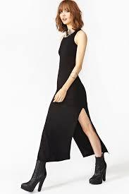 nasty gal long night maxi dress black in black lyst