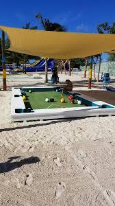 life size pool table cococay construction progress photo report royal caribbean blog