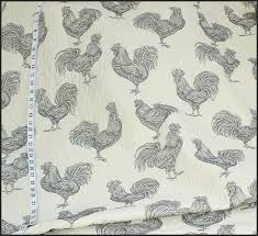 Upholstery Fabric With Birds Rooster Chicken Toile Fabric Brickhouse Fabrics