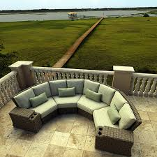 Wicker Style Outdoor Furniture by Crescent Shaped Outdoor Furniture Truly Add Style And Visual