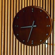 Wood Clock by Finn Juhl Modern 13 8