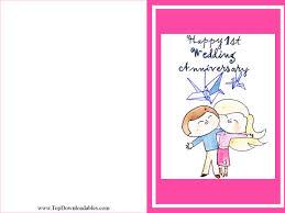 free printable wedding anniversary cards