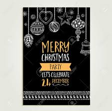 Christmas Invitation Cards Template Vector Christmas Party Invitation With Toys Holiday Background